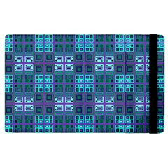 Mod Purple Green Turquoise Square Pattern Apple Ipad 2 Flip Case