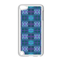 Mod Purple Green Turquoise Square Pattern Apple Ipod Touch 5 Case (white)
