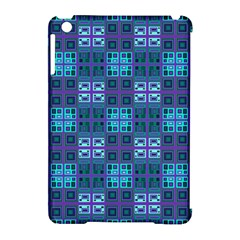 Mod Purple Green Turquoise Square Pattern Apple Ipad Mini Hardshell Case (compatible With Smart Cover)