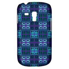 Mod Purple Green Turquoise Square Pattern Samsung Galaxy S3 Mini I8190 Hardshell Case