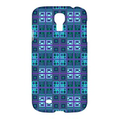 Mod Purple Green Turquoise Square Pattern Samsung Galaxy S4 I9500/i9505 Hardshell Case