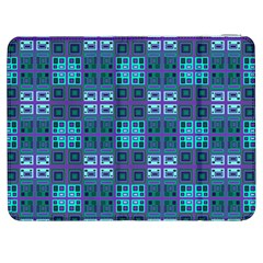 Mod Purple Green Turquoise Square Pattern Samsung Galaxy Tab 7  P1000 Flip Case