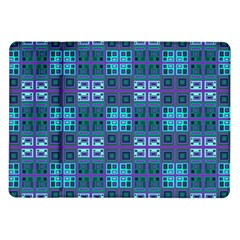 Mod Purple Green Turquoise Square Pattern Samsung Galaxy Tab 10 1  P7500 Flip Case