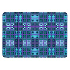 Mod Purple Green Turquoise Square Pattern Samsung Galaxy Tab 8 9  P7300 Flip Case