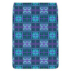 Mod Purple Green Turquoise Square Pattern Removable Flap Cover (l)