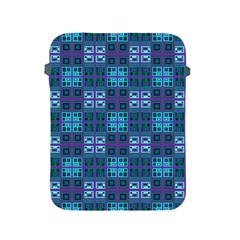 Mod Purple Green Turquoise Square Pattern Apple Ipad 2/3/4 Protective Soft Cases