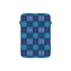 Mod Purple Green Turquoise Square Pattern Apple Ipad Mini Protective Soft Cases