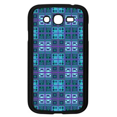 Mod Purple Green Turquoise Square Pattern Samsung Galaxy Grand Duos I9082 Case (black)