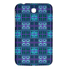 Mod Purple Green Turquoise Square Pattern Samsung Galaxy Tab 3 (7 ) P3200 Hardshell Case