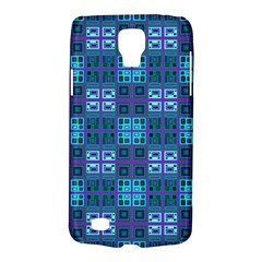 Mod Purple Green Turquoise Square Pattern Samsung Galaxy S4 Active (i9295) Hardshell Case