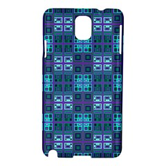 Mod Purple Green Turquoise Square Pattern Samsung Galaxy Note 3 N9005 Hardshell Case
