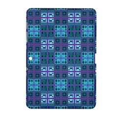 Mod Purple Green Turquoise Square Pattern Samsung Galaxy Tab 2 (10 1 ) P5100 Hardshell Case