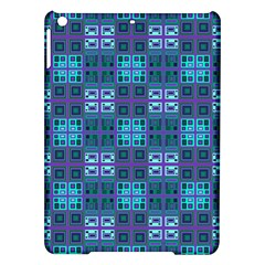Mod Purple Green Turquoise Square Pattern Ipad Air Hardshell Cases