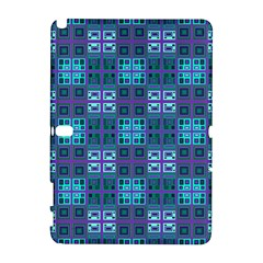 Mod Purple Green Turquoise Square Pattern Samsung Galaxy Note 10 1 (p600) Hardshell Case