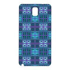 Mod Purple Green Turquoise Square Pattern Samsung Galaxy Note 3 N9005 Hardshell Back Case