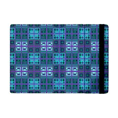 Mod Purple Green Turquoise Square Pattern Ipad Mini 2 Flip Cases by BrightVibesDesign