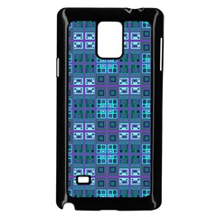 Mod Purple Green Turquoise Square Pattern Samsung Galaxy Note 4 Case (black)