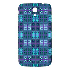 Mod Purple Green Turquoise Square Pattern Samsung Galaxy Mega I9200 Hardshell Back Case