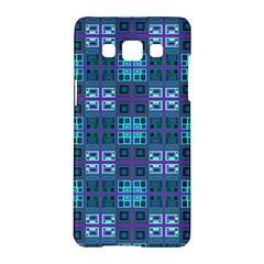 Mod Purple Green Turquoise Square Pattern Samsung Galaxy A5 Hardshell Case