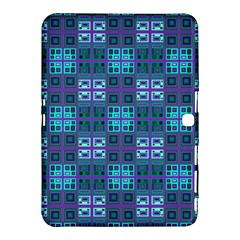 Mod Purple Green Turquoise Square Pattern Samsung Galaxy Tab 4 (10 1 ) Hardshell Case