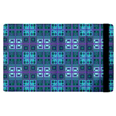 Mod Purple Green Turquoise Square Pattern Apple Ipad Pro 12 9   Flip Case by BrightVibesDesign