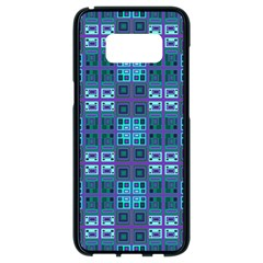 Mod Purple Green Turquoise Square Pattern Samsung Galaxy S8 Black Seamless Case