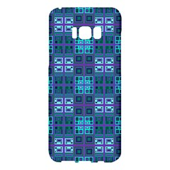 Mod Purple Green Turquoise Square Pattern Samsung Galaxy S8 Plus Hardshell Case