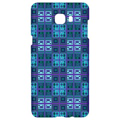 Mod Purple Green Turquoise Square Pattern Samsung C9 Pro Hardshell Case