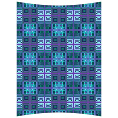 Mod Purple Green Turquoise Square Pattern Back Support Cushion