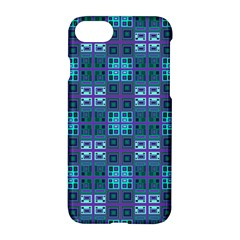 Mod Purple Green Turquoise Square Pattern Apple Iphone 8 Hardshell Case