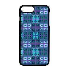 Mod Purple Green Turquoise Square Pattern Apple Iphone 8 Plus Seamless Case (black)