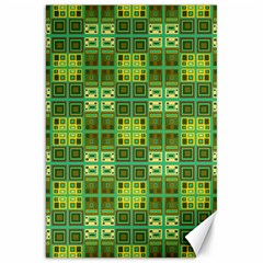 Mod Yellow Green Squares Pattern Canvas 20  X 30