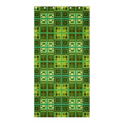 Mod Yellow Green Squares Pattern Shower Curtain 36  X 72  (stall)