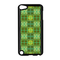 Mod Yellow Green Squares Pattern Apple Ipod Touch 5 Case (black)