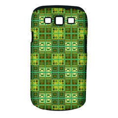 Mod Yellow Green Squares Pattern Samsung Galaxy S Iii Classic Hardshell Case (pc+silicone)