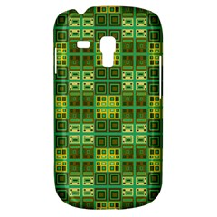 Mod Yellow Green Squares Pattern Samsung Galaxy S3 Mini I8190 Hardshell Case