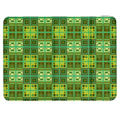 Mod Yellow Green Squares Pattern Samsung Galaxy Tab 7  P1000 Flip Case