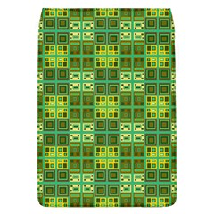 Mod Yellow Green Squares Pattern Removable Flap Cover (l)