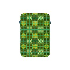 Mod Yellow Green Squares Pattern Apple Ipad Mini Protective Soft Cases