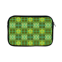 Mod Yellow Green Squares Pattern Apple Ipad Mini Zipper Cases by BrightVibesDesign