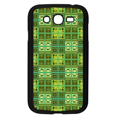Mod Yellow Green Squares Pattern Samsung Galaxy Grand Duos I9082 Case (black)