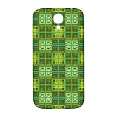 Mod Yellow Green Squares Pattern Samsung Galaxy S4 I9500/i9505  Hardshell Back Case