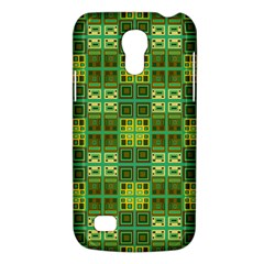 Mod Yellow Green Squares Pattern Samsung Galaxy S4 Mini (gt I9190) Hardshell Case