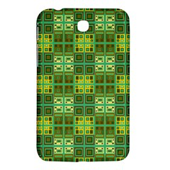Mod Yellow Green Squares Pattern Samsung Galaxy Tab 3 (7 ) P3200 Hardshell Case