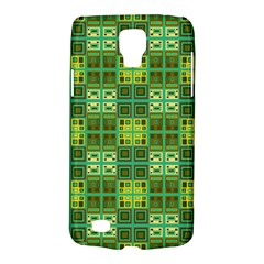 Mod Yellow Green Squares Pattern Samsung Galaxy S4 Active (i9295) Hardshell Case