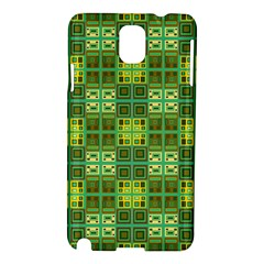 Mod Yellow Green Squares Pattern Samsung Galaxy Note 3 N9005 Hardshell Case