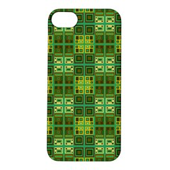 Mod Yellow Green Squares Pattern Apple Iphone 5s/ Se Hardshell Case