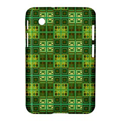 Mod Yellow Green Squares Pattern Samsung Galaxy Tab 2 (7 ) P3100 Hardshell Case
