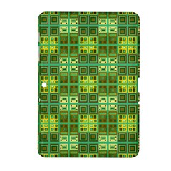 Mod Yellow Green Squares Pattern Samsung Galaxy Tab 2 (10 1 ) P5100 Hardshell Case  by BrightVibesDesign