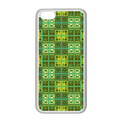 Mod Yellow Green Squares Pattern Apple Iphone 5c Seamless Case (white)